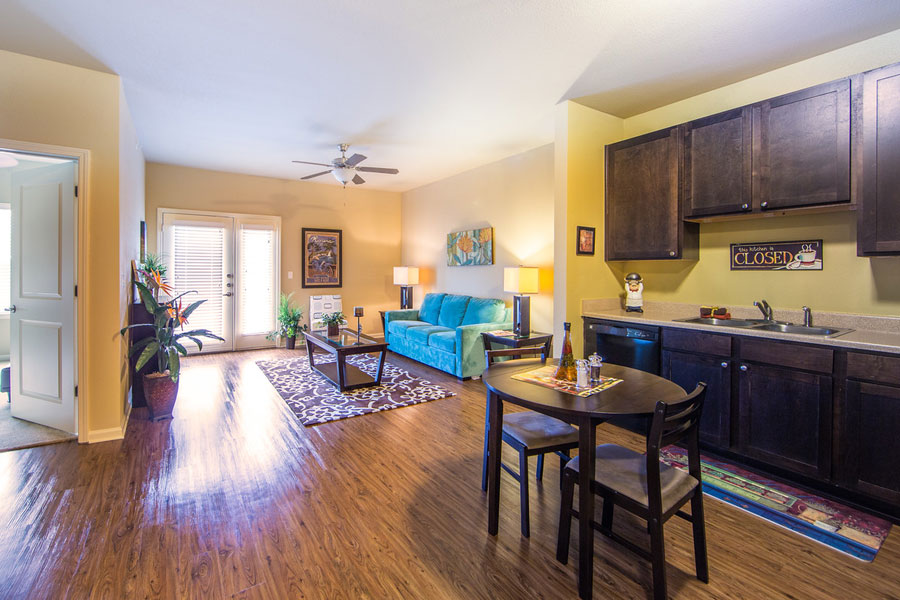 Kitchen and living area at The Villages at Ben White