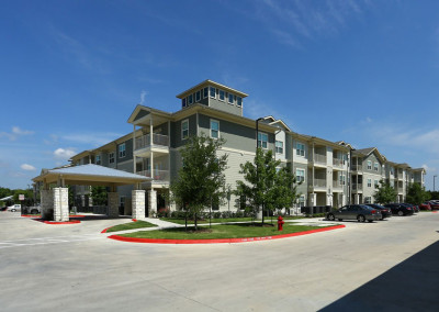 Exterior view of The Villages at Ben White retirement community