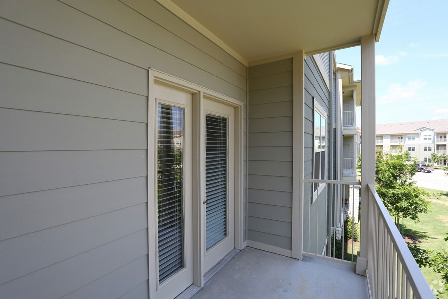 Exterior view of a private balcony at the Villages at Ben White