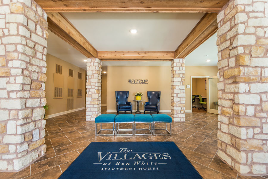The Villages at Ben White community building lobby area