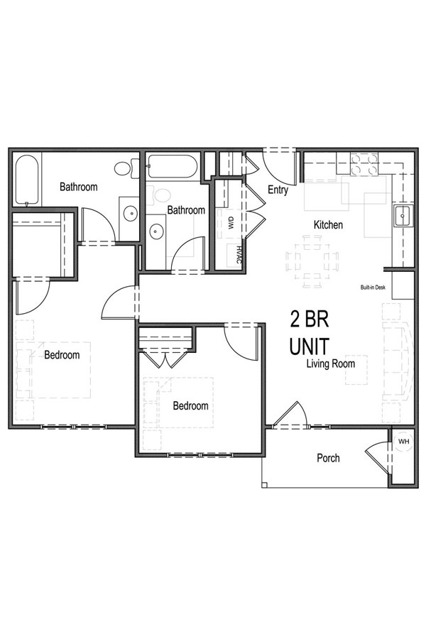 2 Bedroom, 2 Bath - A
